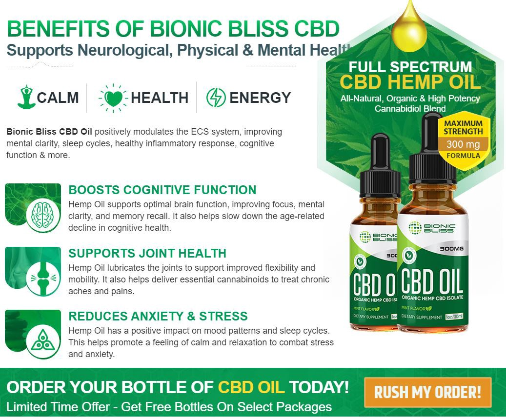 Elements of Bionic Bliss CBD Oil