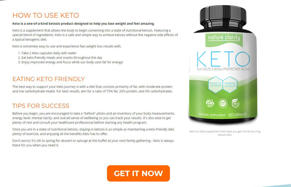 How Does Nature Clarity Keto Work?